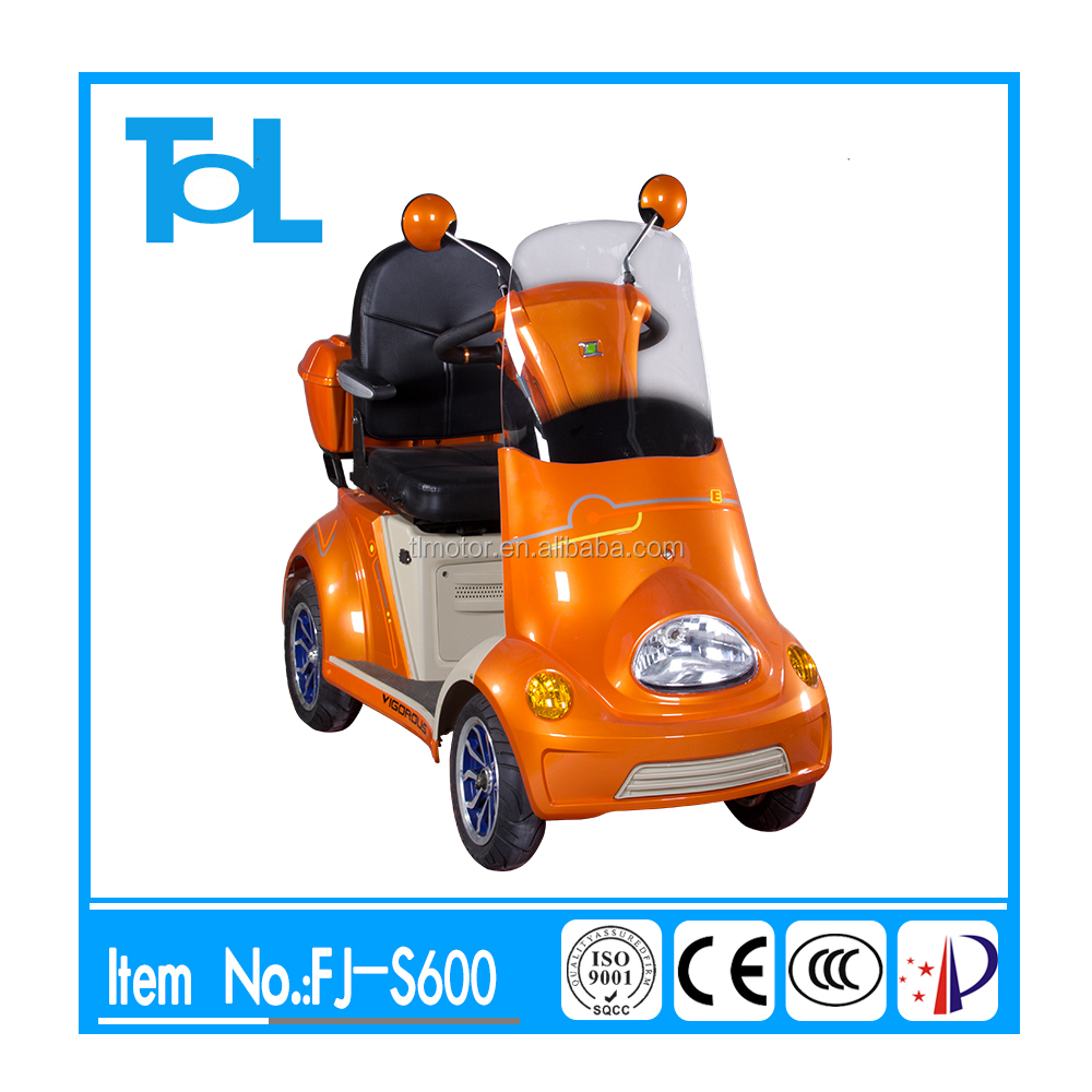4 wheel disable electric tricycle mobiltiy scooter with 2 seats