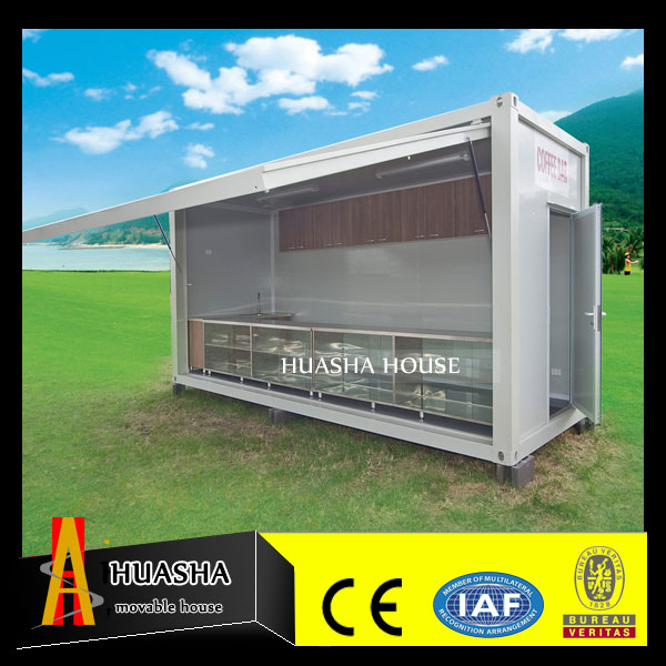 One side unfolded canopy shipping container used for dressing room