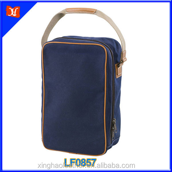 Waterproof canvas match leather shoe bags and shoe made in china shoes bags from italy