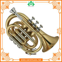 TR104 Professional Bb Pocket Trumpet with Cupronickel Tuning Pipe