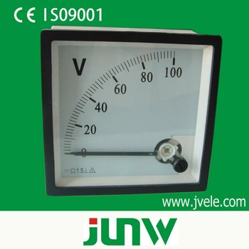 mounted analog dc panel voltmeter