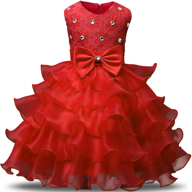 Summer Formal Kids Dress For Girls 2017 Princess Wedding Party Dresses Girl Clothes 6 7 Years Dress Bridesmaid Children Clothing