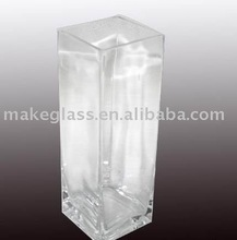 square glass vase /mouth-blown glass vase