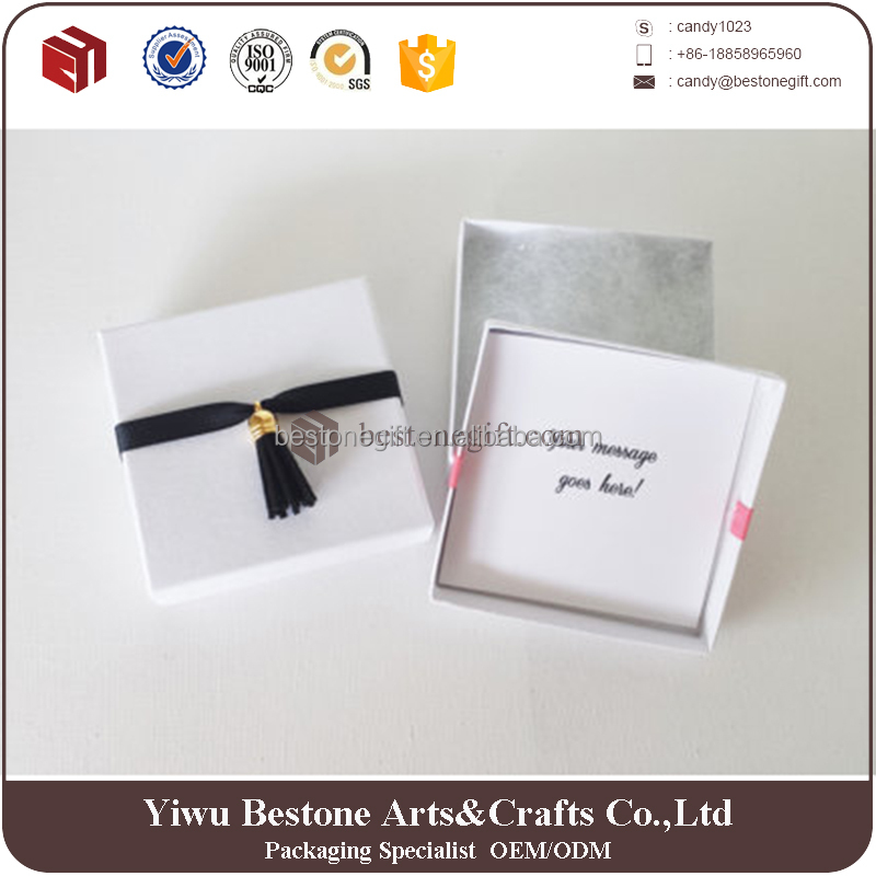 Wholesale 2016 Customize Jewelry Ring Earring Paper Gift Box