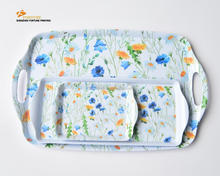 factory direct supply blue flower design plastic cookie trays for lunch