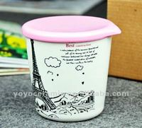ceramic travel mug with lid city mug Paris Tower