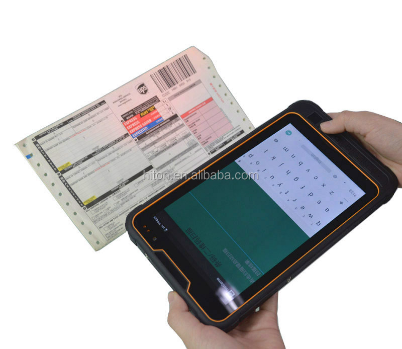 Android 8inch 4G waterproof tablet pc computer with GPS Glonass Barcode scanner NFC waterproof tablet pc computer