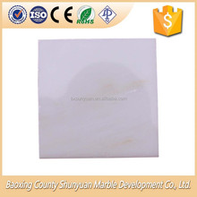 Chinese factory selling polished white marble floor tile marble