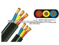 CF Flexible annealed copper wire flat 3*2.5MM SAA standard 100%cooper electricity insulation Cable