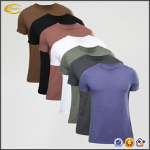Ecoach high quality super soft short sleeve plain skinny fit 100%cotton mens wholesale wholesale crew neck t shirt