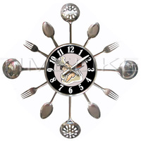 promotional wall clocks kitchen clock with knife and fork