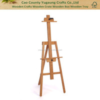 2016 Hot Sale Fashion Stand Students Beech Wood Solid Pine Wooden Studio Easel wedding easel stand