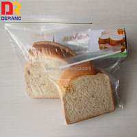 LDPE Plastic Type and Security food grade Feature plastic bread packaging bag