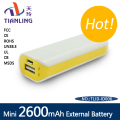 mini charger power bank 2600mah small