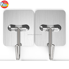 retractable metal adhesive hooks stainless steel coat hook
