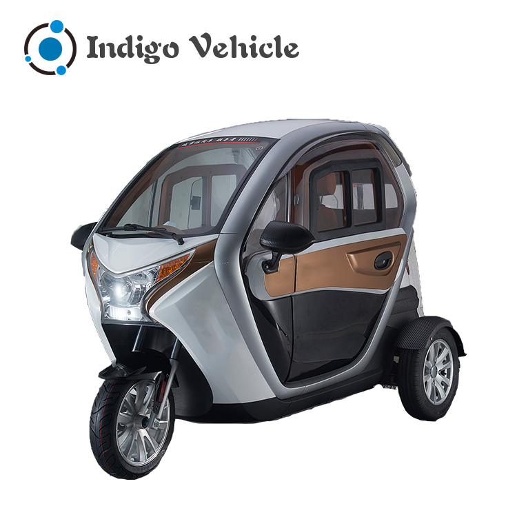 Closed type 3 wheel electric tricycle car for two person