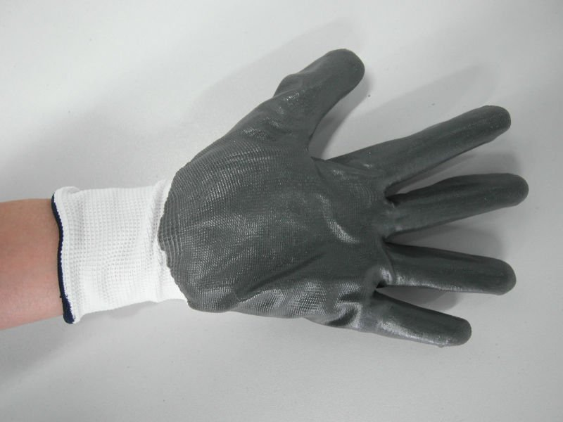 nylon glove nitrile coated