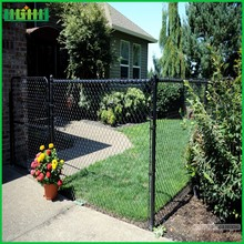 Low cost retractable chain link fence