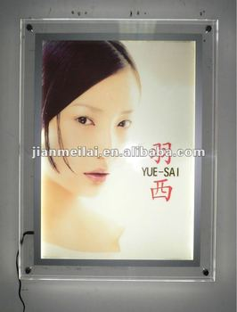 Slim/thin led acrylic light box,led acrylic poster frame