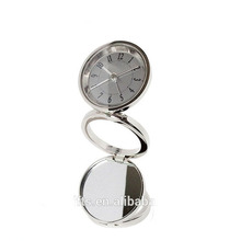 Promotion Fancy Foldable Metal Table Quartz Alarm Clock Travel Alarm Clock