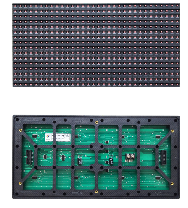<strong>P10</strong> <strong>Outdoor</strong> WIFI PCB Board LED Display Module <strong>P10</strong> Transparent Red Color Video Graphic LED Display Panel Screen