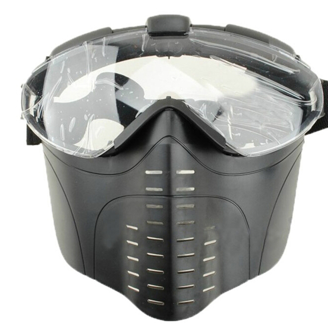 custom uv400 impact black electric tactical airsoft military mask paintball mask
