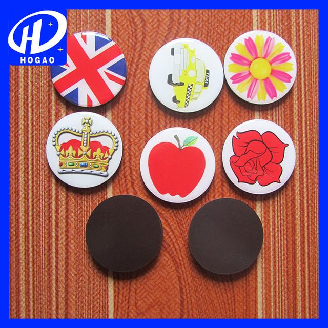 Round Shape Crystal Drop Glue Fridge Magnets Stickers