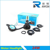 Wholesell Headlamp H4 High Low Beam 24W 18W COB LED Motorcycle Headlight/motor led headlight Good heat dissipation motor led