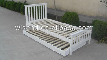 (W-B-0028) solid wood foldable bed
