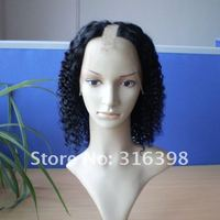 Hot Sale Kinky Curl Indian Remy Hair U Part Full Lace Wig