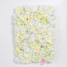 hot sale wedding decor artificial hydrangea flower wall with rose flower