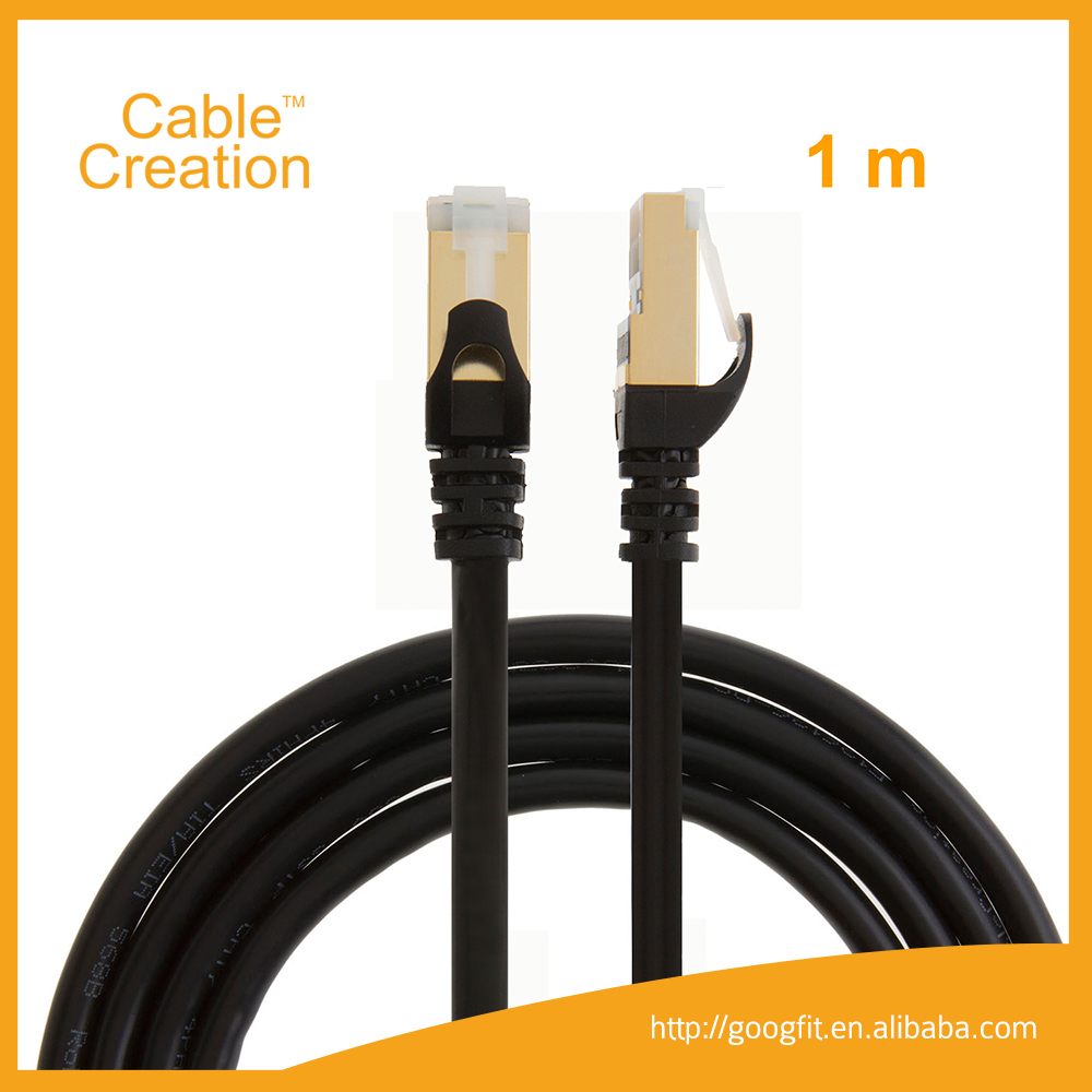 High speed 10Gbps 1m ShenZhen Factory Vention cat 7 rj45 Network Cable Brands for Home Networking