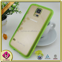 colorful tpu and clear pc case for galaxy s5 phone cover