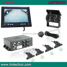 7 inch lcd display parking control system ultrasonic parking sensor with reverse camera