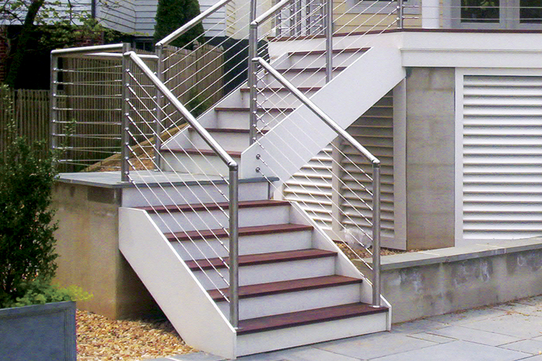 stainless steel pipe stair handrail, balcony deck railing