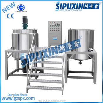 Sipuxin_Stainless steel liquid laundry detergent mixer / making machine, equipment for liquid soap production line