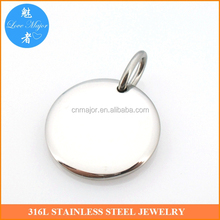 DIY Flat Round Stainless Steel Blank Stamping Tag Pendants Charms 20x2mm