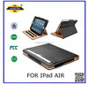 Premium tan leather case for iPad Air , Multi function case for iPad Air , Magnetic sleep / wake up