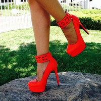 JUSITY 2015 Fashion Ankle Strap Women Platform Shoes And Platform Shoes Picture