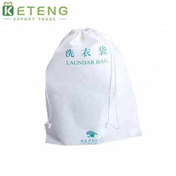Jumbo nonwoven drawstring laundry bag