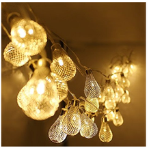 Battery Operated 20led string LED Metal Drip String Lights Patio Wedding Party Christmas lights Bedroom Holiday Decoration