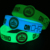Custom Shape Debossed Color Filled Glow In The Dark Silicone Wristbands