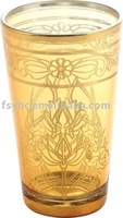 6 OZ Golden Glass Cup,float glass ,glass container,glassware,glass sets