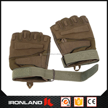 wholesale tactical fingerless leather hunting gloves