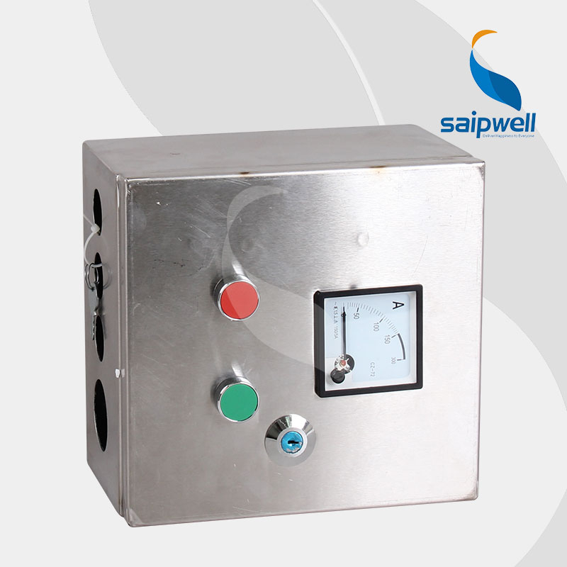 Saip Saipwell Electrical Push Button Control Box Hot Sale CE Certificated Waterproof Stainless Steel Custom China Control Box