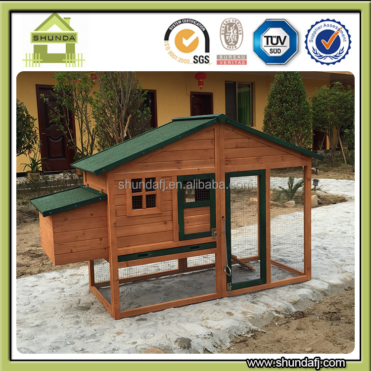 SDC014 wooden pet hutch commercial chicken houses outdoor chicken coop