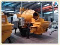 Factory supplied small trailer concrete mixing pump/ concrete mixer pump electric driving JBHBTS30-13-37S