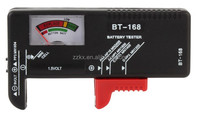 BT168 Analog battery tester/ battery capacity checker 1.5V 9V Button Cell AAA AA C D