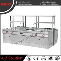 Hotel Kitchen Combination gas stove burner/table top gas cooker
