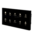 Modern tempered glass RS485 hotel guest room lights bedside control panel switch